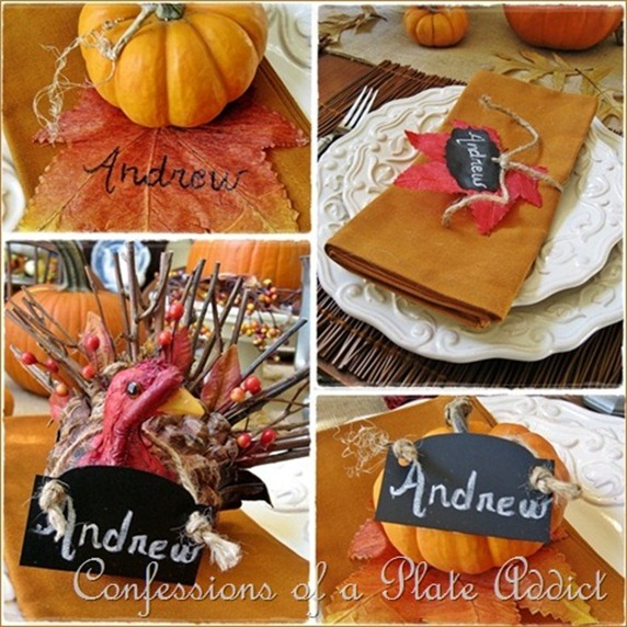 CONFESSIONS OF A PLATE ADDICT Thanksgiving Placecards