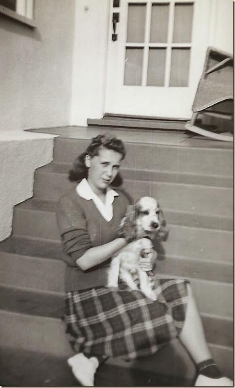 Geraldine w dog 1945