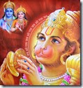 [Hanuman worshiping Sita and Rama]