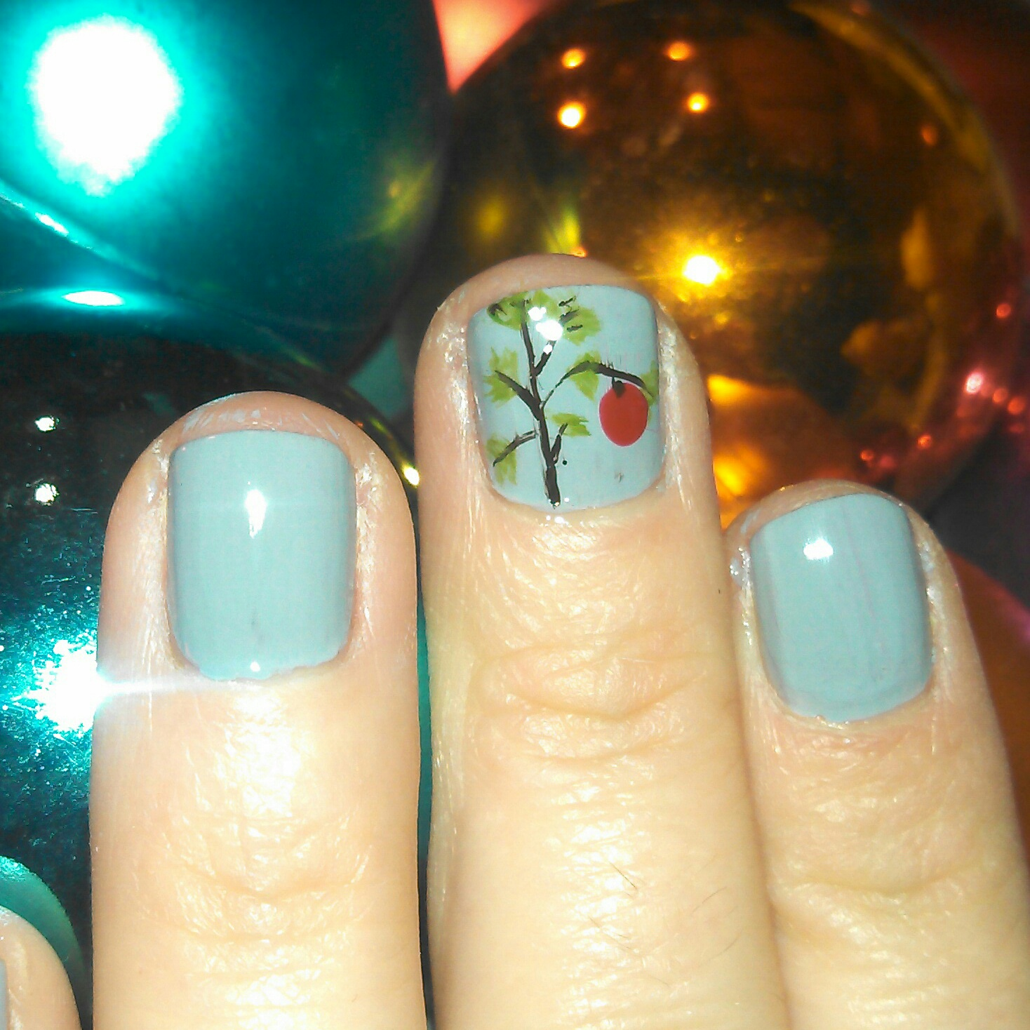 Iceomatics nails charlie brown christmas tree tuesday december 4 2012 prinsesfo Gallery