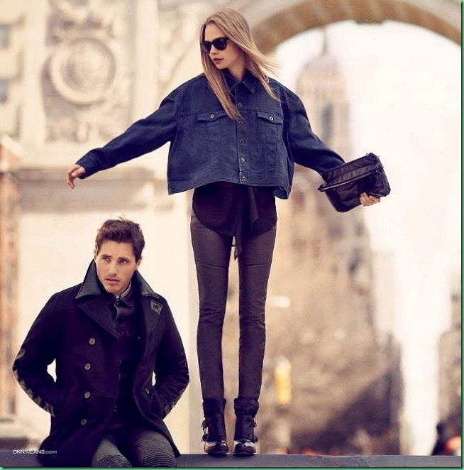 Cara Delevingne and Ollie Edwards for DKNY Jeans FW 13