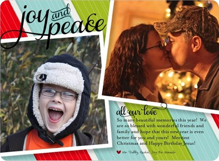 all our love holiday card