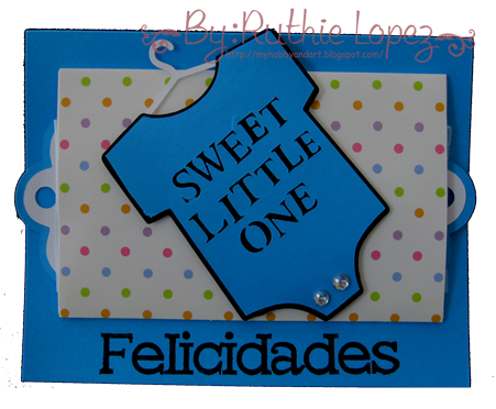 Tutorial del Jardin de Ideas - Retos Abby - Baby Card - Ruthie Lopez