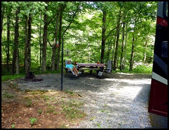 10b- Stony Fork Campground, Site 7 - Our Spot in the Woods
