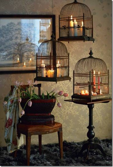 bird cages candles