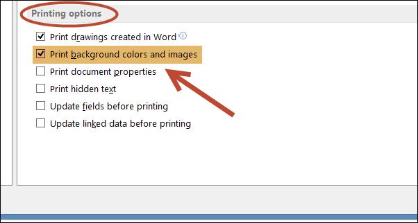 Word 2013 Print BlackGroundColor 4