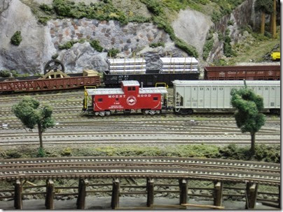 IMG_0402 Caboose X343 on the Mount Hood Model Engineers HO-Scale Layout in Portland, Oregon on March 8, 2008