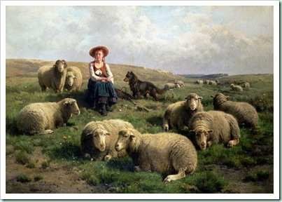 shepherdess-with-sheep-in-a-landscape, leemputten&gerard
