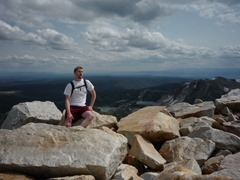 Medicine Bow Peak - took me over 2.5 hours to get there, and I had a limp at this point. (Teresa said she will never let me go hiking alone again!)