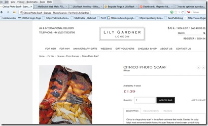 Lily Gardner Photo Scarf