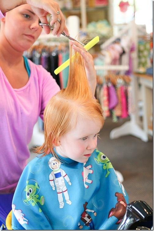 Sara's first haircut-13 blog