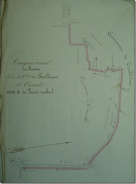 Le dessin de la limite entre Orvault Treillières