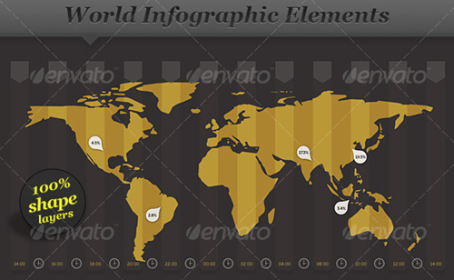 world infographic elements