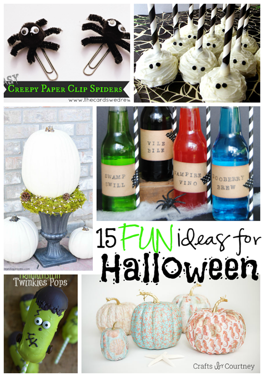 15 Fun Ideas for Halloween at GingerSnapCrafts.com #Halloween #linkparty #features