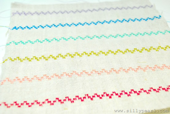 DIY Embroidered Fabric using your Fancy Sewing Machine Stitches