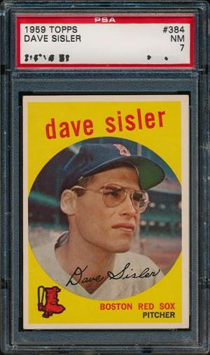 1959 Topps 384 Dave Sisler front