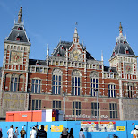 amsterdam central station in Amsterdam, Noord Holland, Netherlands