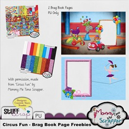 Mommy Me Time Scrapper - Circus Fun - Brag Book Freebie Preview