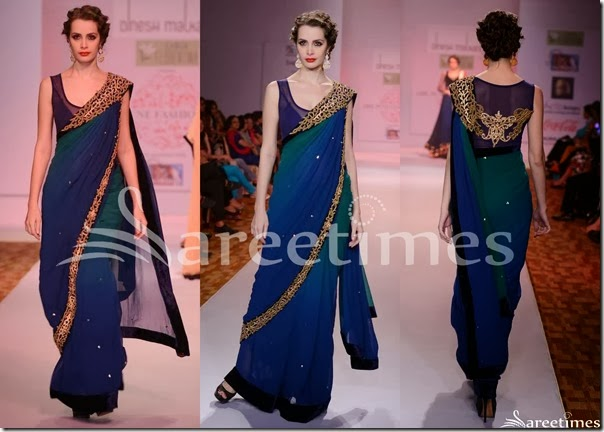Dinesh_Malkini_Blue_Green_Dual_Color_Saree