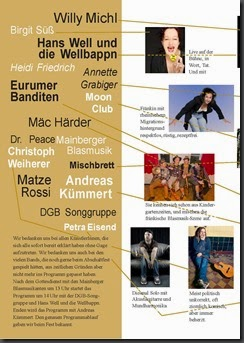 BA-BI e.V.: Kulturprogramm Abschaltfest Schweinfurt 31.5.15 AKW Grafenrheinfeld