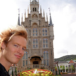 matt in from of gouda townhall at huis ten bosch in Sasebo, Nagasaki, Japan
