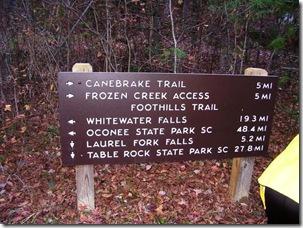 Toxaway River sign