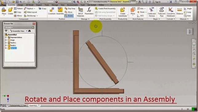 Rotate and Place components in an Assembly