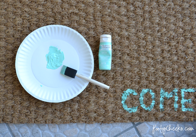 DIY Painted IKEA Door Mat