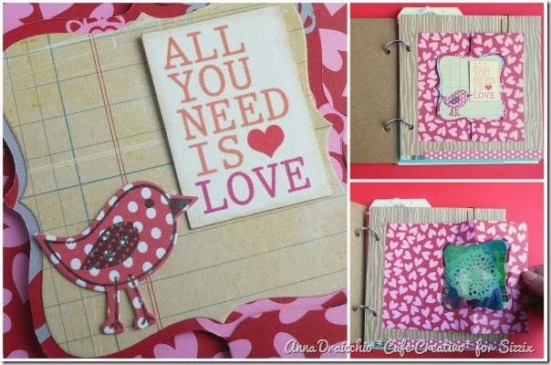 cafe creativo - Anna Drai - sizzix big shot - Mini album - Valentine (2)