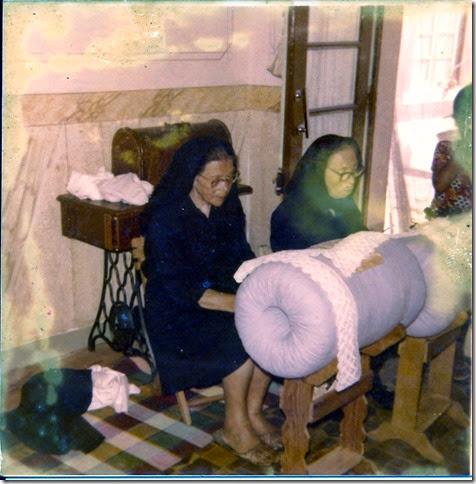 Irmãs Lucilia e laura Rosa nas Rendas