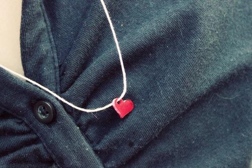 shrinky dink heart necklace
