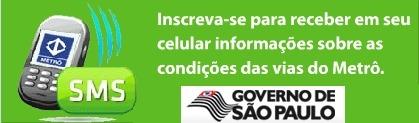 USUÁRIOS DO METRÔ-SP RECEBERÃO INFORMAÇÕES SOBRE SITUAÇÃO DAS LINHAS PELO CELULAR