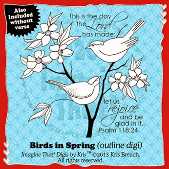 PROMO Birds in Spring Outlines