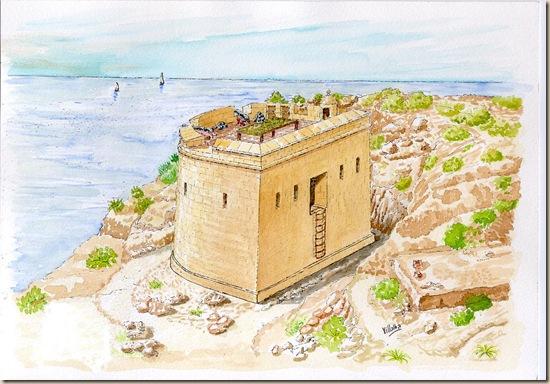 Recreació Castell de la Granadella (S.XVIII), Xàbia.
