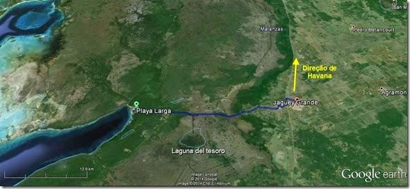 Mapa até Jagüey Grande