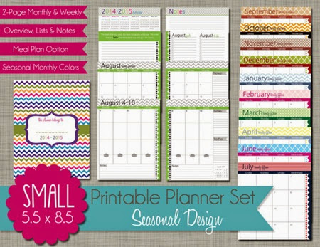 small planner pages