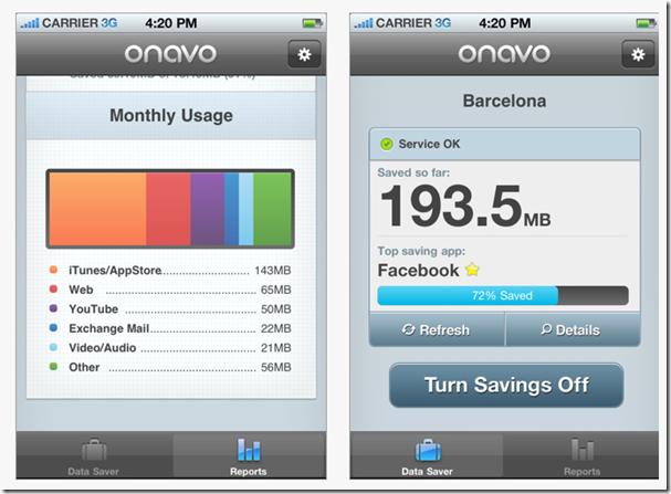 ONAVO Réduire la consommation data sur son IPhone
