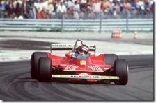 Gilles Villeneuve con la Ferrari 312 T4