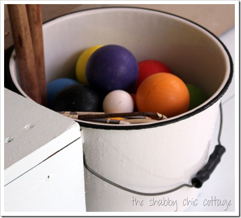 bucket of croquet balls