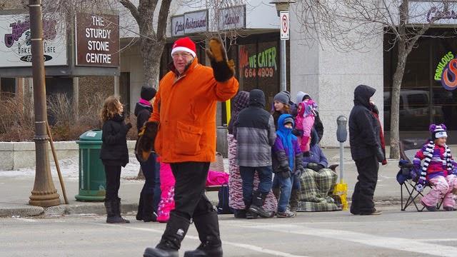 Don Atchison at the Santa Claus Parade