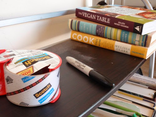 Packing Tape and Cookbooks