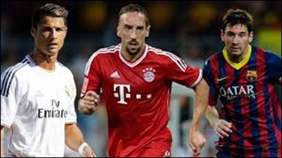 Messi, Ronaldo y Ribéry, finalistas al Balón de Oro 2013