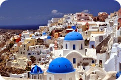 Santorini as top honeymoon in Europe