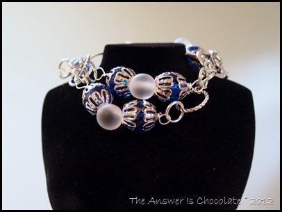 TAIC Blue White Bracelet