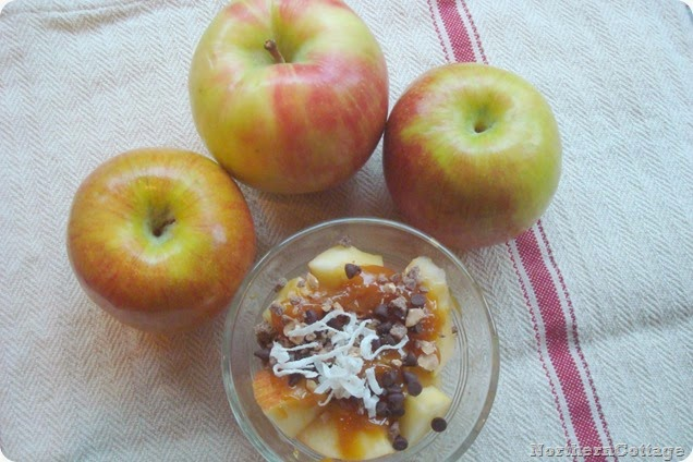 Individual Caramel Apple Bites {NorthernCottage}