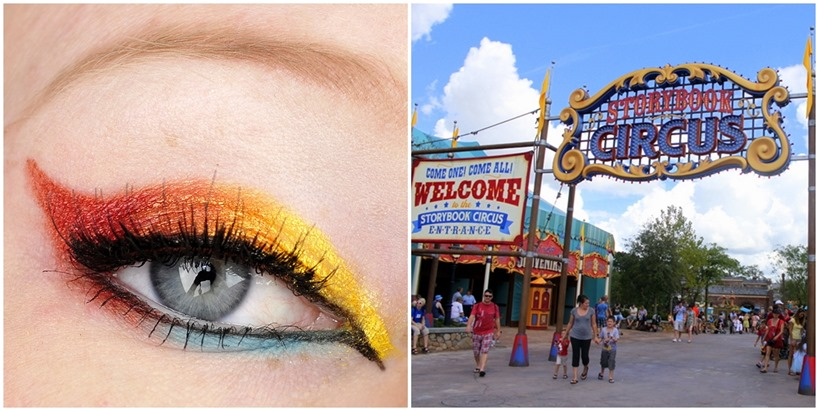 storybook circus walt disney world inspired makeup look