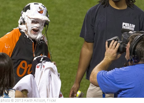 'Bud Norris Shaving Cream Pie' photo (c) 2013, Keith Allison - license: http://creativecommons.org/licenses/by-sa/2.0/
