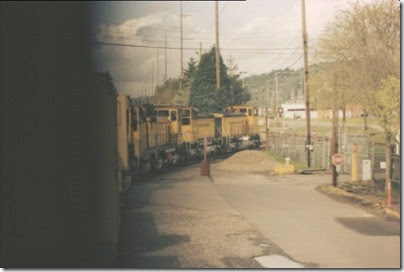 56154116-12 Riding the Weyerhaeuser Woods Railroad (WTCX) at Longview, Washington on May 17, 2005
