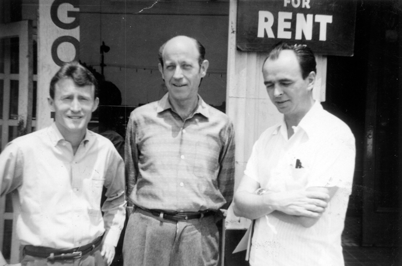 Core ONE Incorporated staff (from left to right) Don Slater, W. Dorr Legg, and Jim Kepner. Circa 1957-1958.