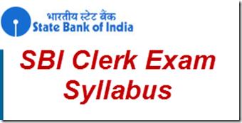 SBI Clerk Preliminary Main Exam Syllabus 2016
